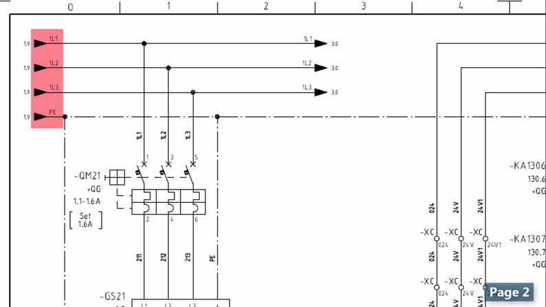 Addressing a Component in Electrical Wiring Diagram