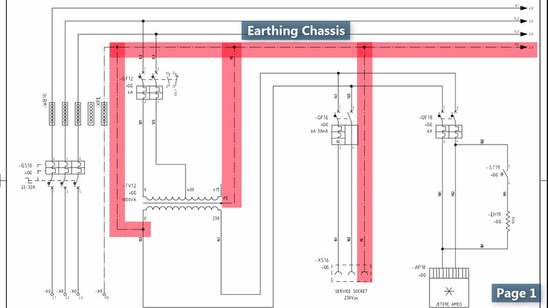 Earthing Chassis in Electrical Wiring Diagram