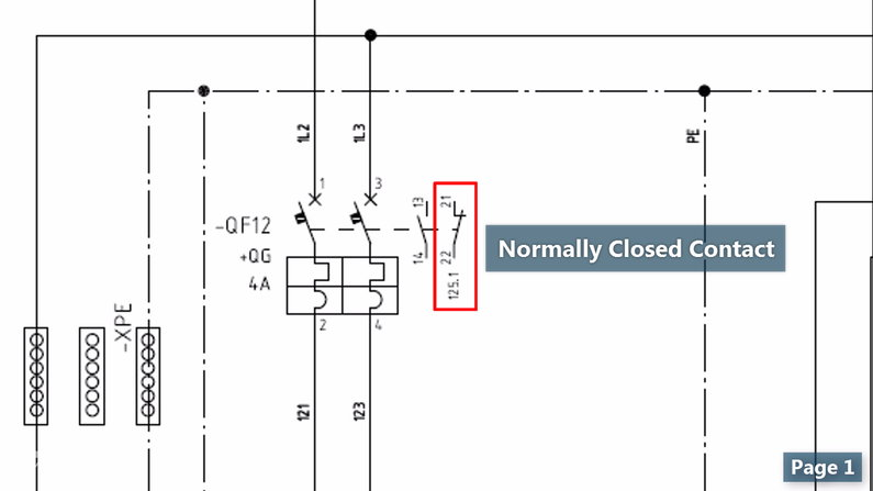 NO and NC Contacts in Wiring Diagrams