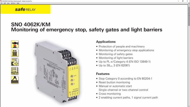 Safety Relay Datasheet