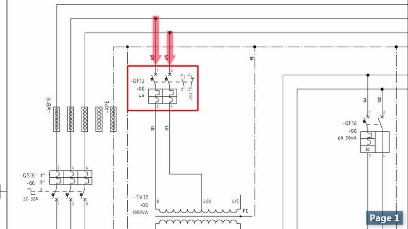 Two Pole Circuit Breaker Symbol in Wiring Diagram