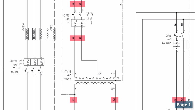 Wire Tags in Wiring Diagram