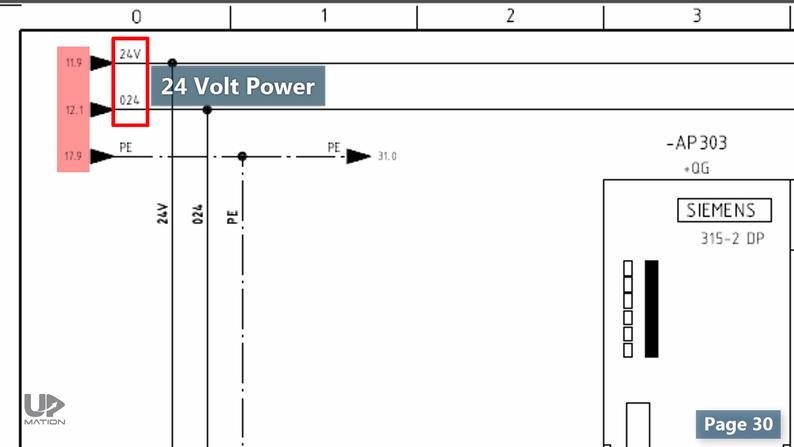 24 Volts Power Supplu in PLC Wiring Diagram
