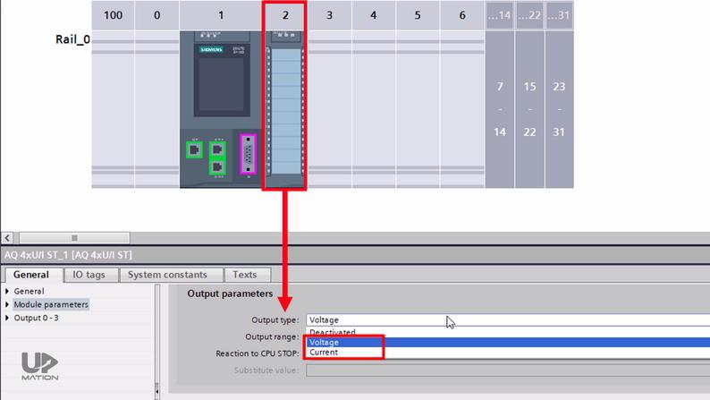 Output Types of PLC Card in TIA Portal