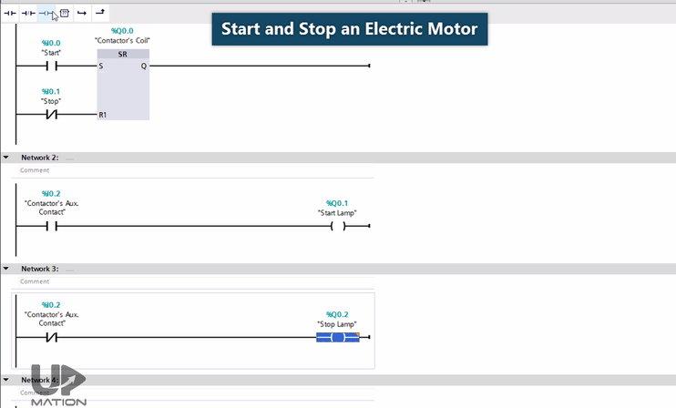 PLC Program Motor Control