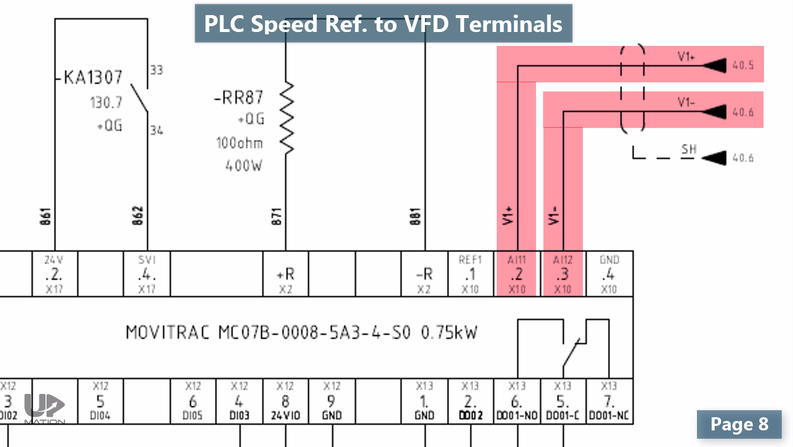 PLC and VFD Communication Wiring Diagram