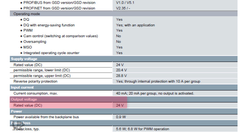 PLC Output Card Voltage