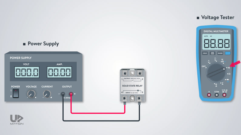 How to test a solid state relay with multimeter