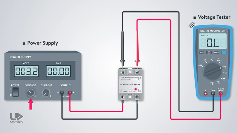 How to test solid state relay using multimeter